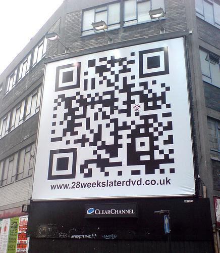Codigo QR en las calles de Londres